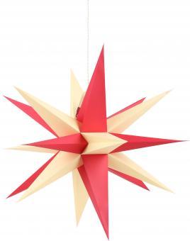 Annaberger Faltstern, gelb / rot 58 cm