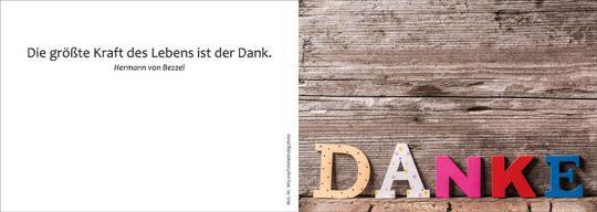 Doppelkarte m. Umschlag - Danke
