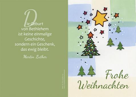 Doppelkarte m. Umschlag - Weihnachtsbaum