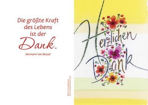 Doppelkarte m. Umschlag - Herzlichen Dank