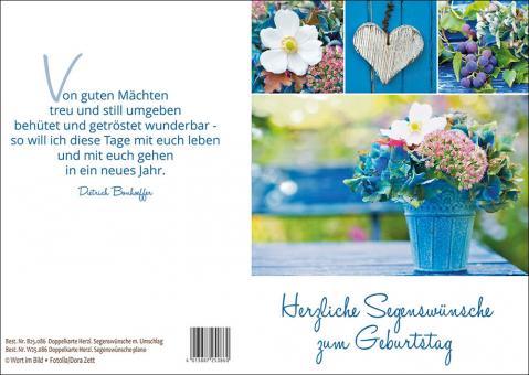 Doppelkarte m. Umschlag - Herzliche Segenswünsche zum Geburtstag