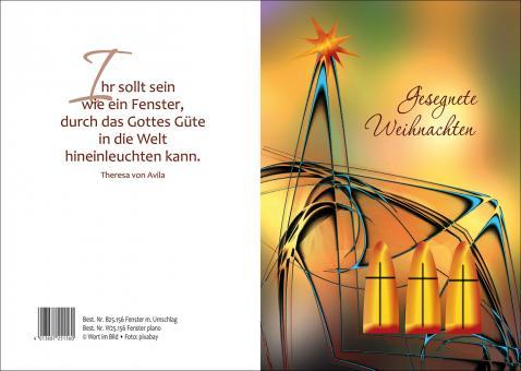 Doppelkarte m. Umschlag - Fenster - Gesegnete Weihnachten