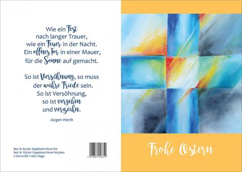 Doppelkarte m. Umschlag -  Frohe Ostern - Wie ein Fest