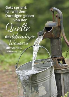 Poster A3 - Quelle des lebendigen Wassers - Eimer