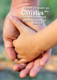 Poster A2 - Nehmt einander an - Hände