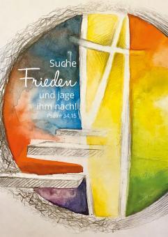 Poster A2 - Suche Frieden und jage ihm nach - Riedel