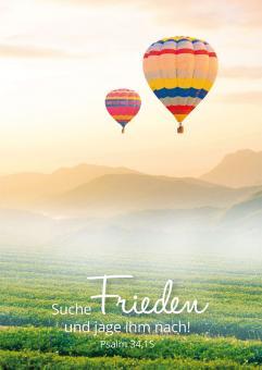 Poster A3 - Suche Frieden und jage ihm nach - Ballon
