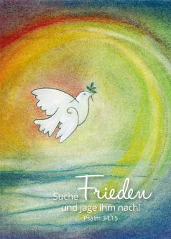 Poster A3 - Suche Frieden und jage ihm nach - Rieger