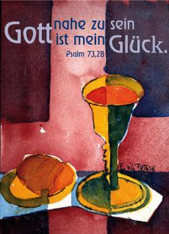Poster A4 - Gott nahe zu sein ist mein Glück - Friese