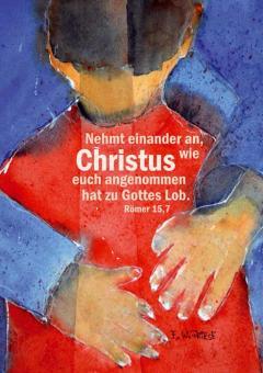 Poster A4 - Nehmt einander an - Friese