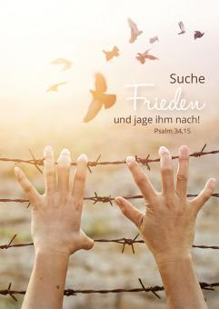 Poster A4 - Suche Frieden und jage ihm nach - Freiheit