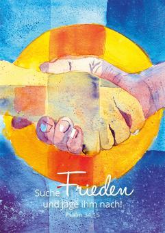 Poster A4 - Suche Frieden und jage ihm nach - Friese