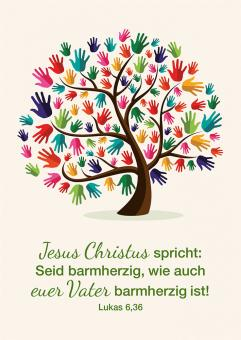 Poster A4 - Jahreslosung 2021 - Baum