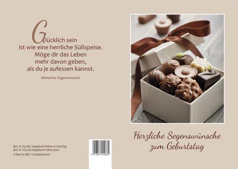 Doppelkarte plano - Herzliche Segenswünsche zum Geburtstag