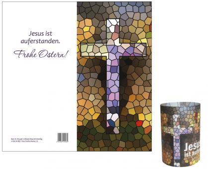 Lichtkarte - Kreuz - Jesus ist auferstanden