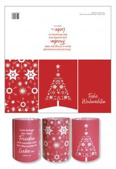Lichtkarte - Sternenbaum - Frohe Weihnachten