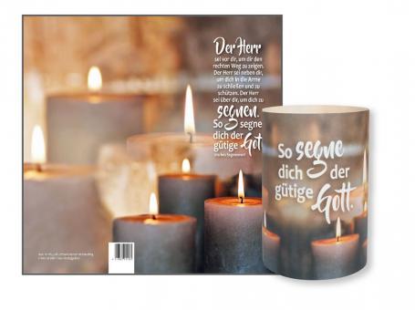 Lichtkarte - Kerzen - So segne dich der gütige Gott