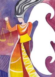 Postkarte - Engel der Gerechtigkeit