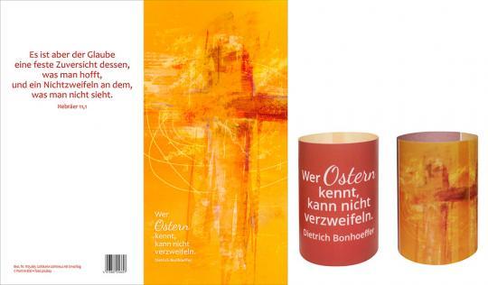 Lichtkarte - Wer Ostern kennt - Lichtkreuz