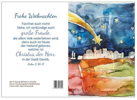 Doppelkarte plano - Bethlehem - Simone Riedel