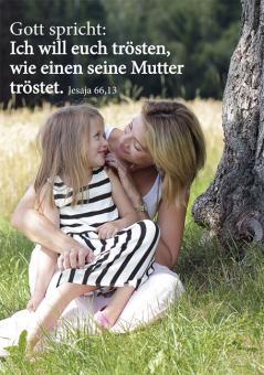 Doppelkarte plano - Ich will euch trösten... - Mutter + Kind