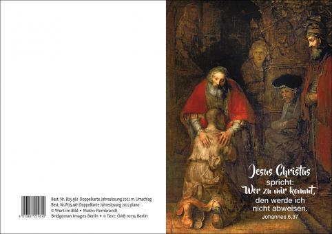Doppelkarte plano - Jahreslosung 2022 - Rembrandt - Der verlorene Sohn