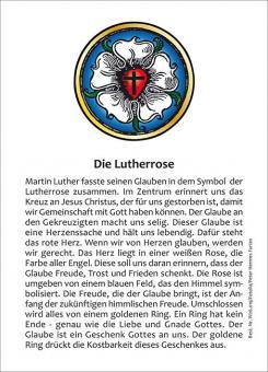 Postkarte - Die Lutherrose