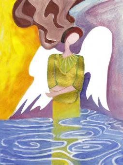 Postkarte - Engel des Lebens