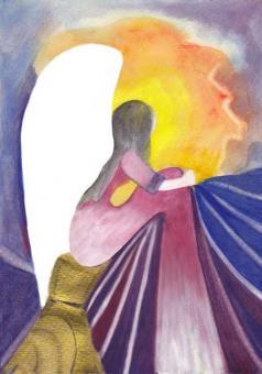 Postkarte - Engel der Trauer