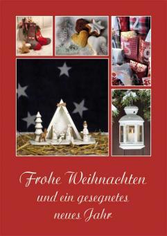 Postkarte A6 - Frohe Weihnachten und ein gesegnetes neues Jahr