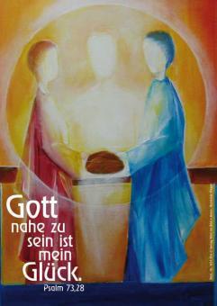 Postkarte A6 - Gott nahe zu sein ist mein Glück - Rieger