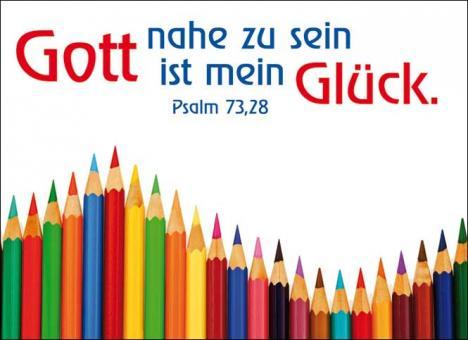 Postkarte A6 - Gott nahe zu sein ist mein Glück - Kinder