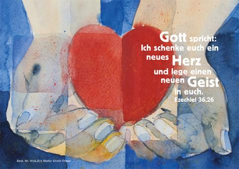 Postkarte - Ein neues Herz - Friese