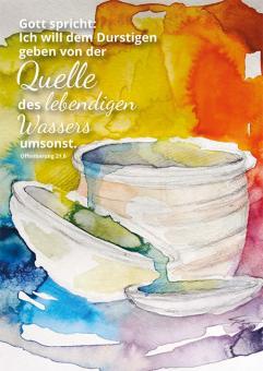 Postkarte - Quelle des lebendigen Wassers - Simone Riedel