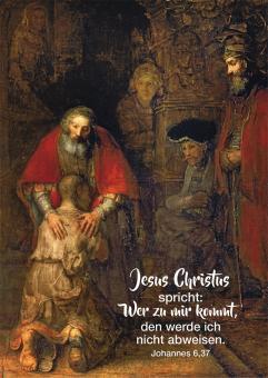 12er-Set Postkarten - Jahreslosung 2022 - Rembrandt - Der verlorene Sohn