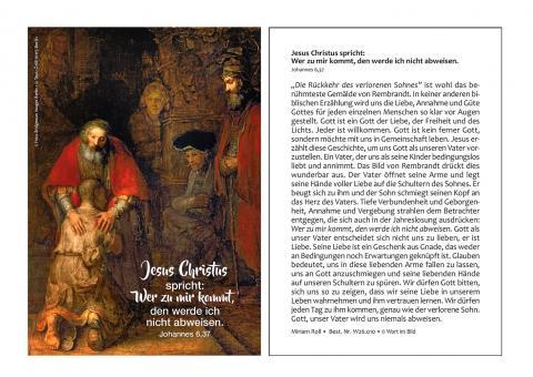 12er-Set Postkarten - Auslegung zur Jahreslosung 2022 - Rembrandt - Der verlorene Sohn