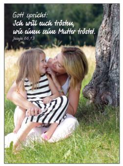 Postkarte - Ich will euch trösten... - Mutter + Kind