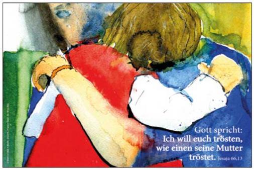 Poster A4 - Ich will euch trösten... - Friese