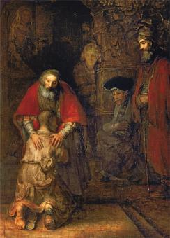 12er-Set Postkarten - Rembrandt - Der verlorene Sohn