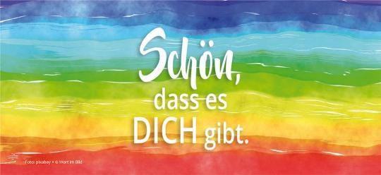 24er-Set Buchzeichen - Regenbogen - Schön, dass es DICH gibt