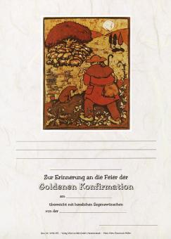 Urkunde A4 - Goldene Konfirmation (Hirte)