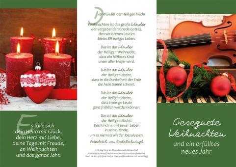 Dreifachkarte + Umschlag - Gesegnete Weihnachten