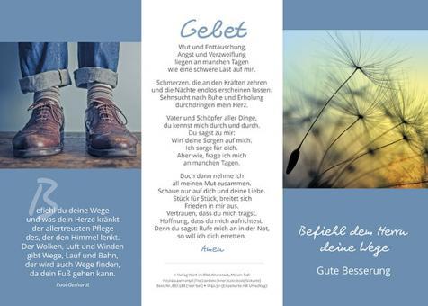 Dreifachkarte mit Umschlag - Befiehl dem Herrn deine Wege