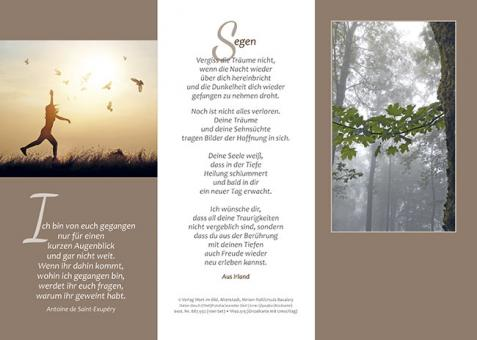Dreifachkarte mit Umschlag - Ewigkeitssontag
