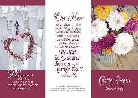 10er-Set Dreifachkarten plano - Zum Geburtstag Gottes Segen