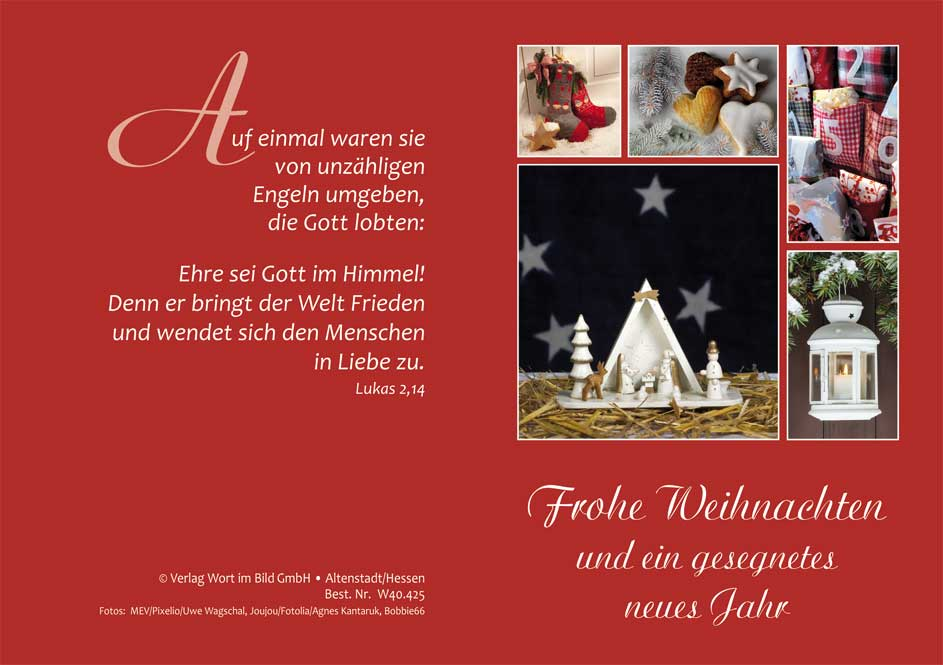 Wort im Bild - Shop | Doppelkarte - Frohe Weihnachten und ein ...