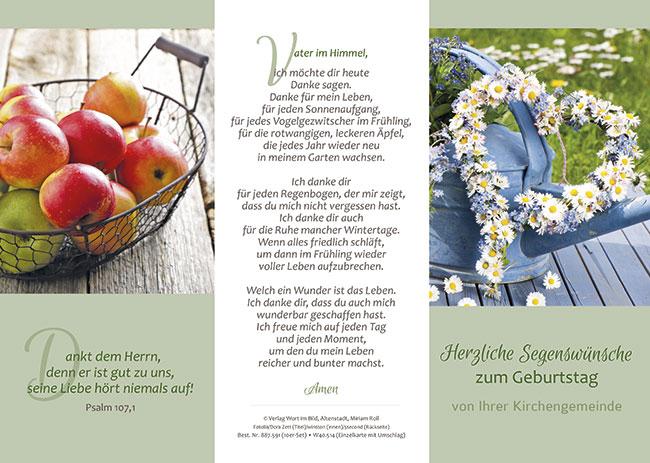 Wort Im Bild Shop Dreifachkarte Mit Umschlag Herzliche